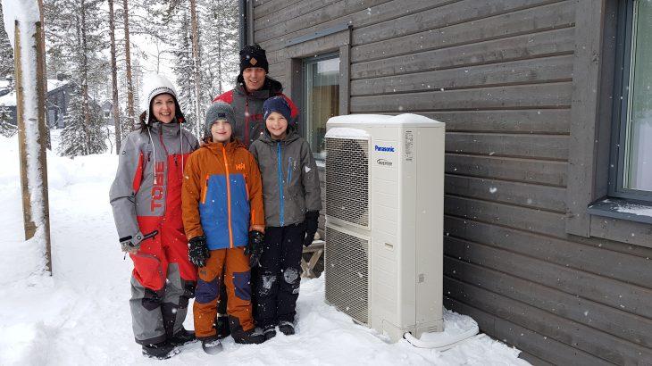 Luft til vann utedel i snøen