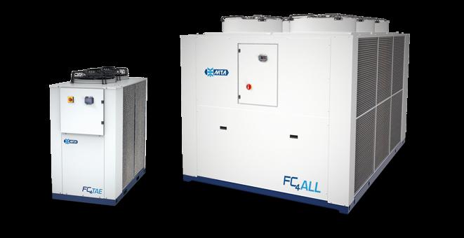 Freecooling luftkjølt isvannsmaskin med innbygget frikjøling